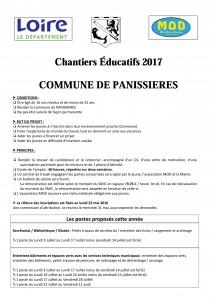 CHANTIERS EDUCATIFS
